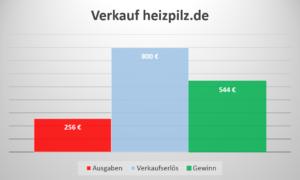Einkommen Domainverkauf heizpilz.de