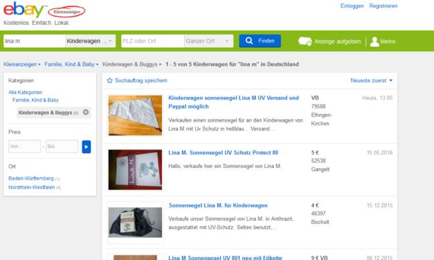 Geld Sparen durch eBay Kleinanzeigen und Co.